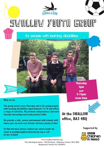 SWALLOW - Youth group for people with learning disabilities