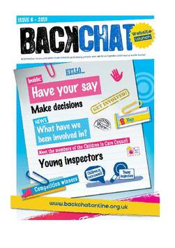 Back chat 2013  frontpage