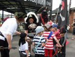 Thumb rovers pirate day outside event with blackbeards ghost