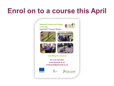 New courses for April