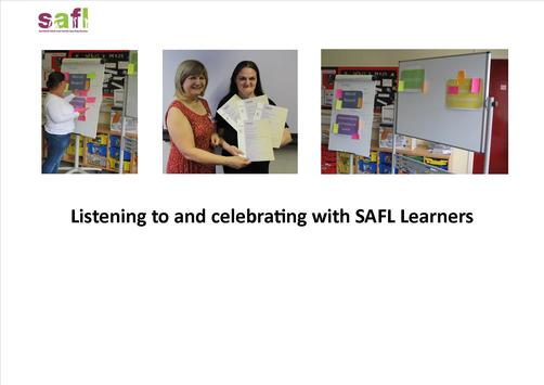 Listening to and celebrating with SAFL Learners